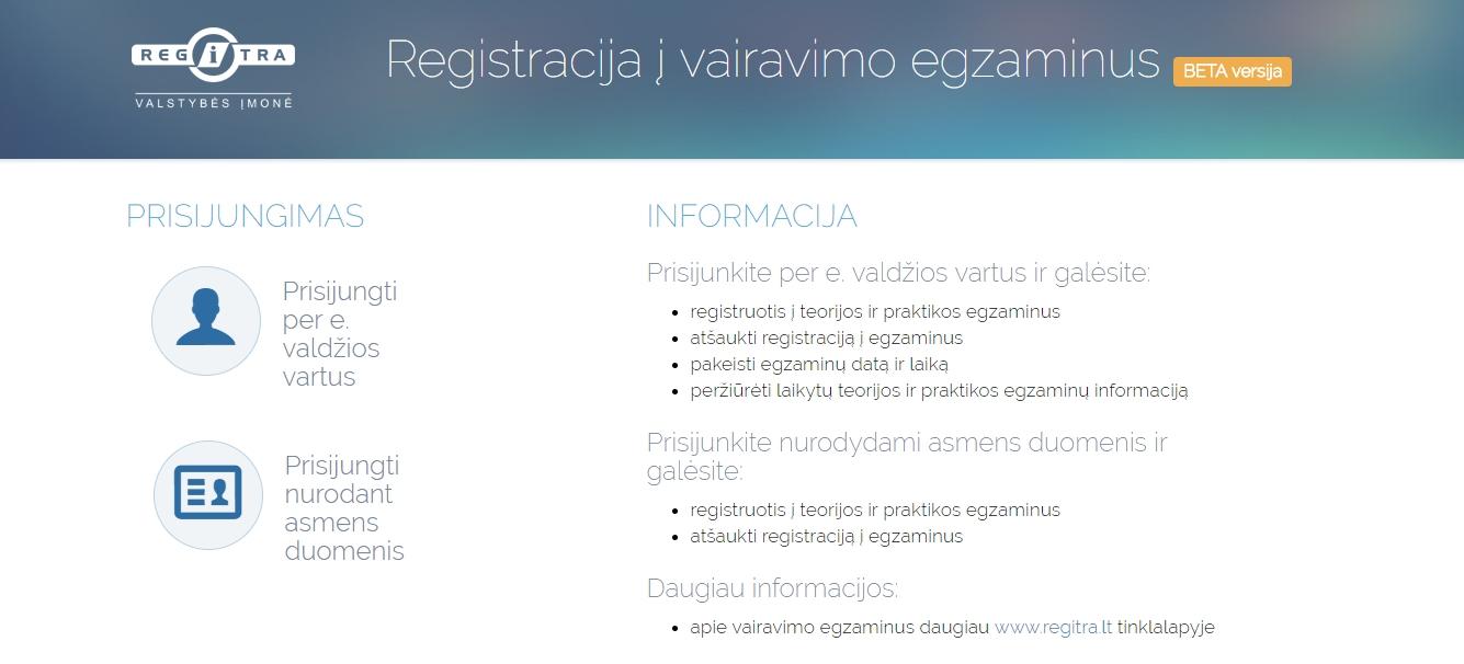 Regitra registracija